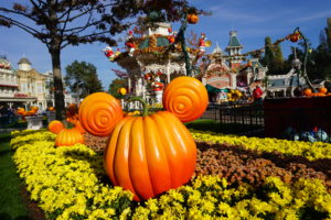 Pumpkin decoration in the form of Mickey Mouse