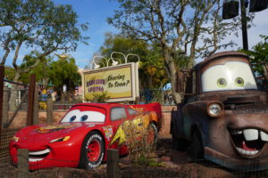 Lightning McQueen and Mater characters